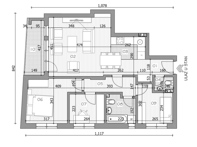 Troiposoban stan od 73,22m2