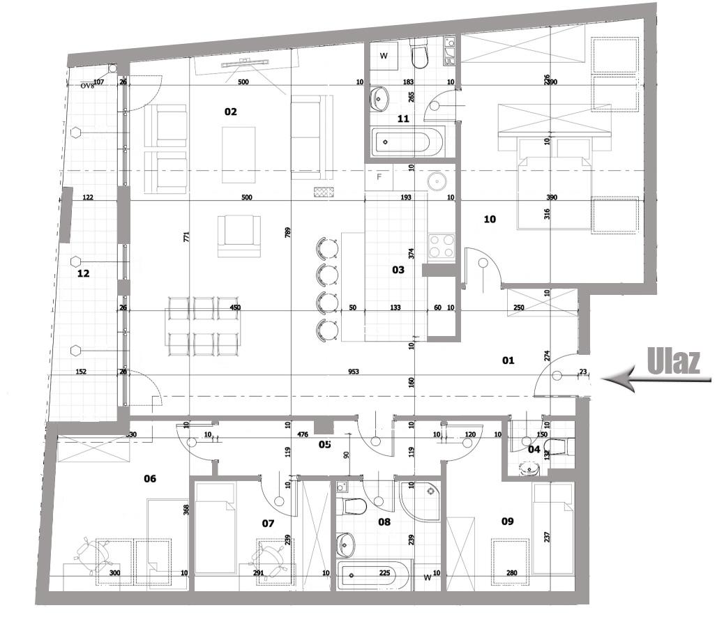 Petosoban stan 130,82 m2